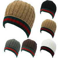 Plain Beanie Knit Ski Cap Skull Hat warm winter cuff NEW Beanies Hats unisex Men