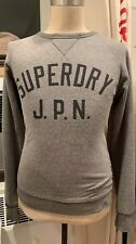 Superdry JPN Crewneck Sweater Sweatshirt, Gray Medium M Grey Men's Women