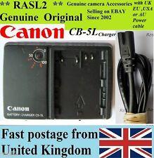 Genuino Canon charger,cb-5l Bp511 Bp-512 Eos 300d 50d 40d 30d 20d 10d 5d D30 D60