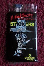 Unopened Pack 1984 A Nightmare on Elm Street Movie Stickers ~ Freddy Krueger