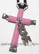 "Disciples Cross Horseshoe Nail Necklace w/ ""Love"" charm"