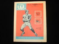 December 29, 1963 Rocky Mountain News TV Guide Giants vs. Bears EX+