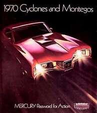 1970 Mercury Cyclone SPOILER Montego GT Brochure HUGE!