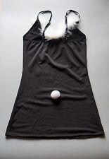 Regalo de San Valentín Sexy Negro Bunny vestido con pluma y Cola Uk Size 6-8