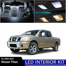 17PCS White Interior LED Light Package Kit For 2004 - 2015 Nissan Titan