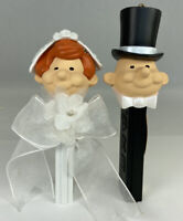 Bride & Groom Top Hat Wedding Heirloom PEZ Ornaments #162 2007 w/ Box