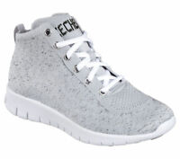 Womens Skechers Bright Idea Elevated Gray High Top 22998 #BR