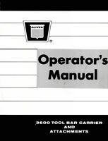 Oliver 3600 Tool Bar Carrier Operators Manual