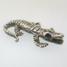 Alligator 3D Charm Sterling Silver Vintage