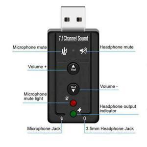 Usb 2.0 Audio Sound Card External Adapter 3d Virtual Win7 7.1 Ch OS Linux 8 P9L4
