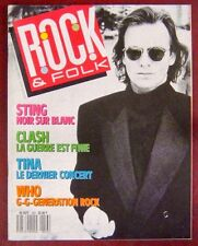 Revue Rock & Folk Juin 1988 Sting Clash Who Tina turner
