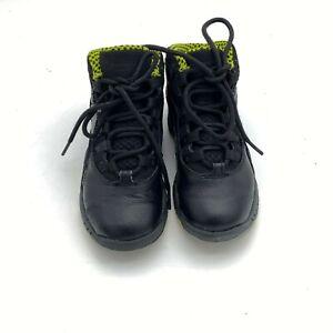 NIKE AIR JORDAN RETRO 10 BLACK VENOM GREEN SHOES MENS SIZE11C (NO BOX)