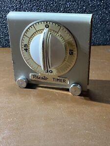 Vintage Presto TIMER mechanical retro National Pressure Cooker Co. Working Orig.