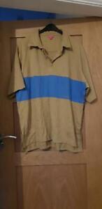 Fuller Fillies Short Sleeve Shirt Size 20 Riding/Equestrian Caramel and Blue NWT