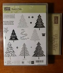 Peaceful Pines Stampin Up Stamp Set & Die (Perfect Pines Framelits)