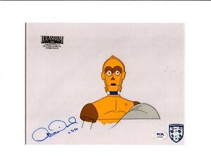 "ANTHONY DANIELS Signed Star Wars ""DROIDS"" Cartoon Animation Cel PSA/DNA #AJ40563"