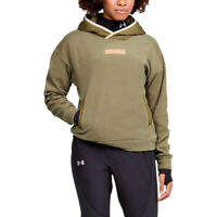 Under Armour Womens Trek Polar Hoodie Green Sports Gym Hooded Warm Breathable