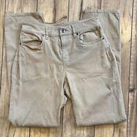 LL Bean Women's Size 4 True Shape Twill Classic Fit Slim Pants - Khaki Tan