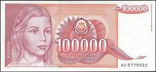 TWN - YUGOSLAVIA 97 - 100000 Din. 1/5/1989 AU/UNC Pref. AU
