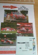Decals 1/18  réf 923 Peugeot 307 wrc Robert Allemagne 2004