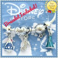 5 Pcs Disney FROZEN Elsa Anna Princess Dress Charms Be Magical  Beads Set New