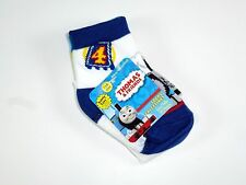 NEW 2 PAIRS BOYS THOMAS & FRIENDS BLUE WHITE NON SKID SOCKS SIZE 18-24M NS38