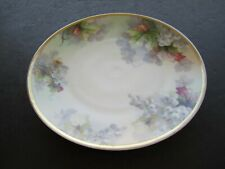 """Old Imperial Austria Grapes & Leaves Decorated 9"""" Porcelain Plate"""