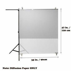 Superior Seamless Photography Diffusion Paper Sheet Camera Flash Diffuser Sheets