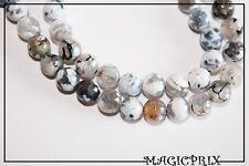 M2619)Lot de 45 Perles Naturelles AGATE de Feu Ø 8 mm