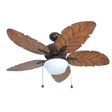 """52"""" Ceiling Fan with Light Kit Indoor Outdoor Downrod Bronze Palm Tropical Blade"""