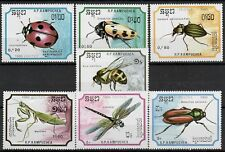 (W1284) CAMBODIA, 1988, INSECTS, MI 969/75, UM/MNH, SEE SCAN