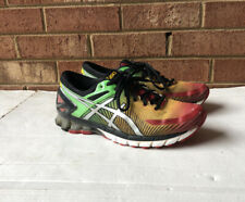 EUC Men's Multicolor ASICS Running Shoes Size 9.5 GEL KINSEI 6 Green Yellow Red
