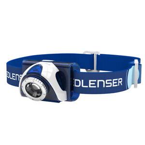 kQ LED LENSER SEO7R SEO 7R blau Reachargeable Kopflampe Stirnlampe 6007-R
