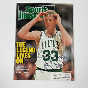 Larry Bird Boston Celtics Sports Illustrated Magazine signed autographed 1988