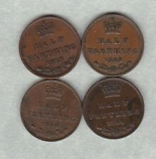 More details for four 1843 & 1844 victorian half farthings in very fine condition