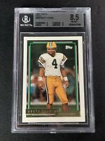 1992 Topps Gold #696 BRETT FAVRE BGS 8.5 MINT Packers HOF RARE SP