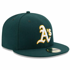 8711c683889 Era 59fifty MLB Cap Oakland Athletics Green on Field Fitted 2014 Road Hat 7  1