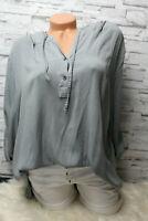 Italy Shirt Bluse Hemd grau Gr. 36 38 40 42 Vintage Oversized Kapuze blogger NEU