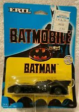 ERTL Batmobile - 1989 Batman The Movie - 1/64 Scale - New On Card - Vintage