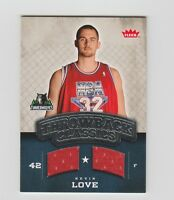 Kevin Love Timberwolves 2008-2009 Fleer Throwback Classics Rookie Patch #NBA-KL