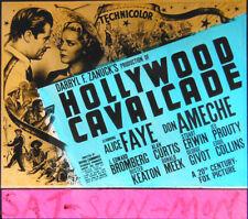 "Orig Glass Slide ""Hollywood Cavalcade"" - ALICE FAYE - DON AMECHE - KEATON - 1939"