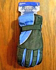 BLUE LARGE Mens SKI GLOVES Snowboard Bike Lined Warm Winter Water Repellent USA
