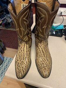 justin cowboy boots 9d vintage