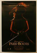 PUSS IN BOOTS  - 2011 ORIGINAL 27X40 MOVIE TEASER POSTER - BANDERAS *BOGO FREE*