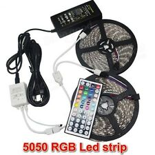 10m Bandeau Led Ruban Flexible, 600smd Led5050Rgb+Manette+Alim EU