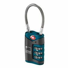 NEW LEWIS N CLARK TSA APPROVED LUGGAGE CABLE COMBINATION LOCK BLUE