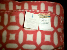 """Pottery Barn Kids Throw Blanket Pink/Coral White NEW 30""""x40"""""""