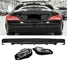 Für Mercedes-Benz CLA W117 CLA45 AMG Look Heckschürze Stoßstange Diffusor #40