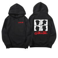 Unisex Gorillaz Group Hoodie Silhouette Pullover Alternative Rock HipHop Clothes