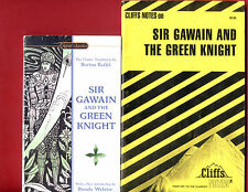 Sir Gawain and the Green Knight & Cliff notes study guide - Free Shipping!
